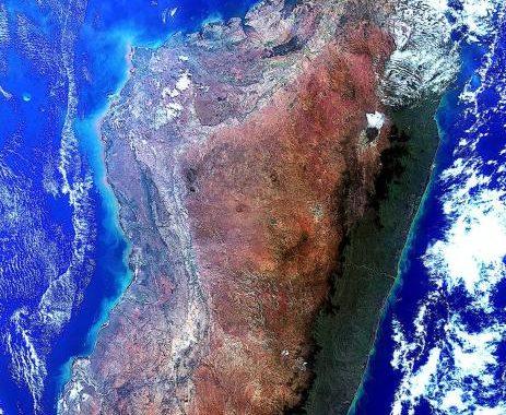 Madagascar vue depuis l'espace, impressionnant ! Franz - ISS83