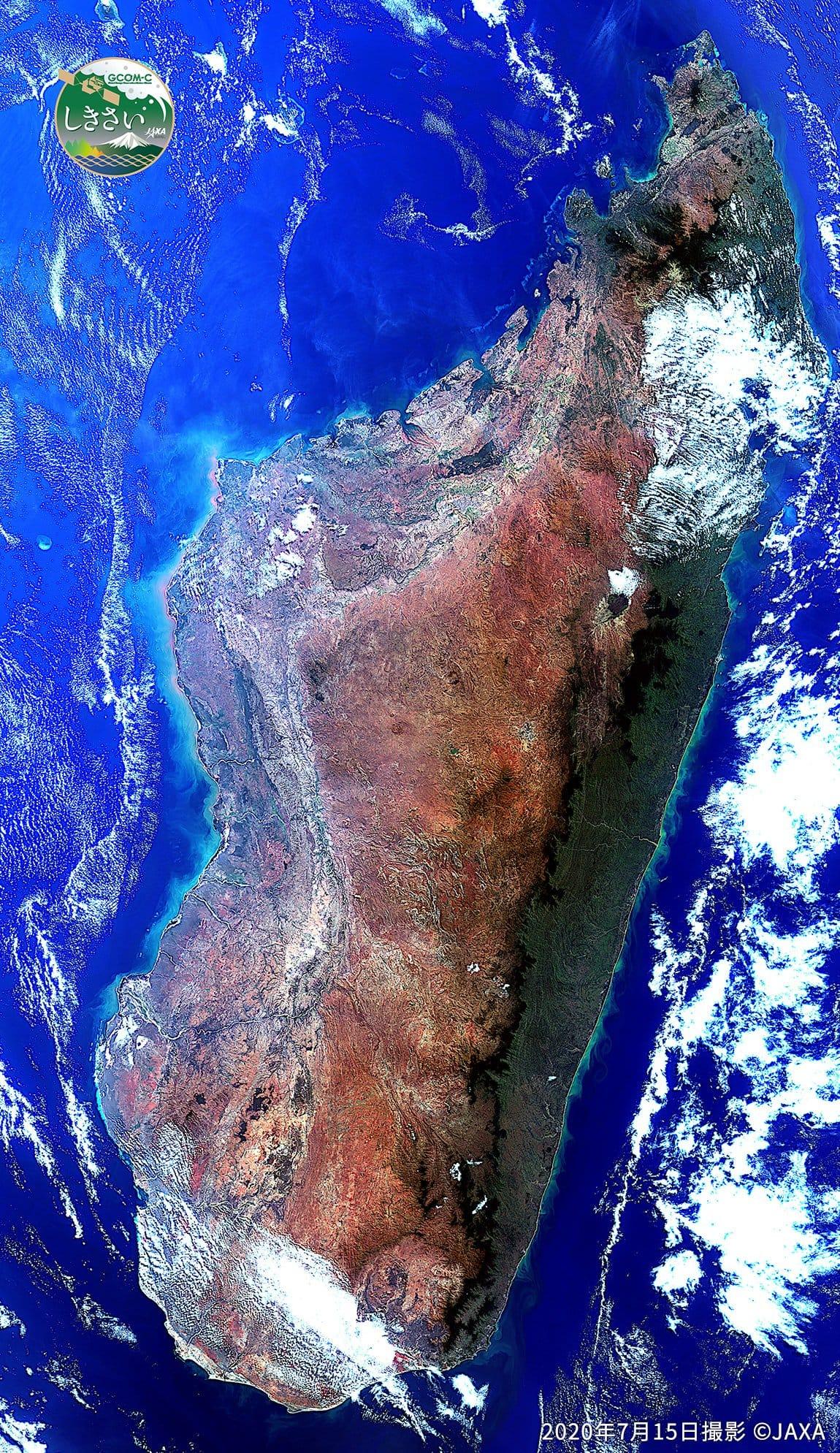 Madagascar vue depuis l'espace by Franz - ISS83