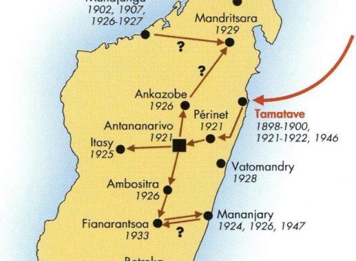 Atlas de la peste à Madagascar de 1898 à 1960